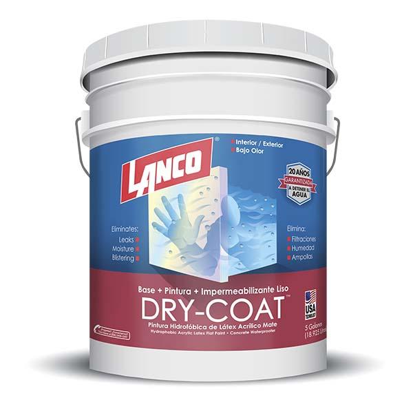 Pintura 3 en 1 Dry Coat mate blanco 5 galones (18.92 litros) LANCO