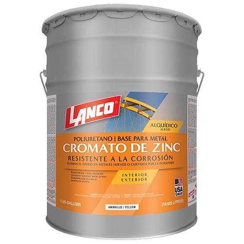 Pintura anticorrosiva cromato de zinc de color amarillo 5gl LANCO