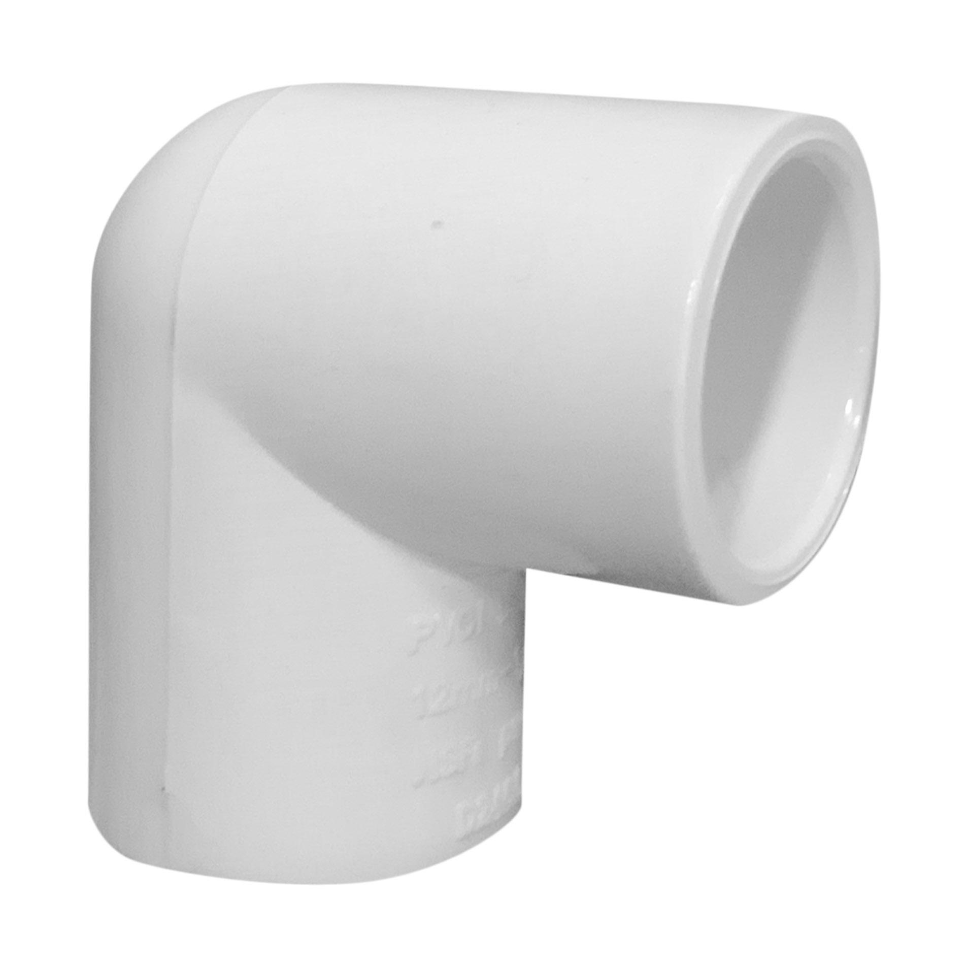 """Codo de PVC de 1/2"""" x 90° de agua"""