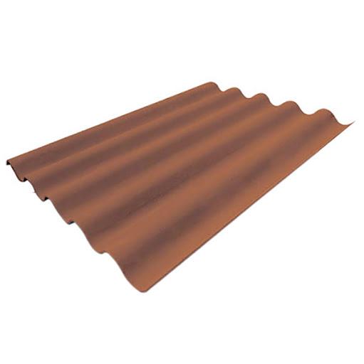 Lámina de fibrocemento de 3' x 2' x 6mm ondulada de perfíl 7 para techo de color