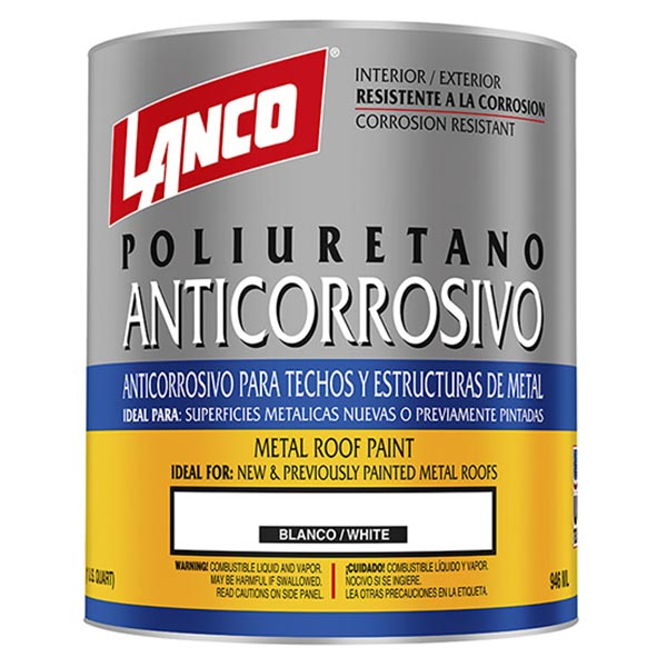 Pintura Anticorrosivo Poliuretano para techos y estructuras de metal acabado mat