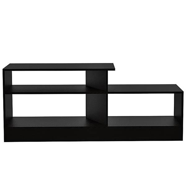 Mesa para TV greca de 56cm x 135cm x 36cm de color wengue y negro
