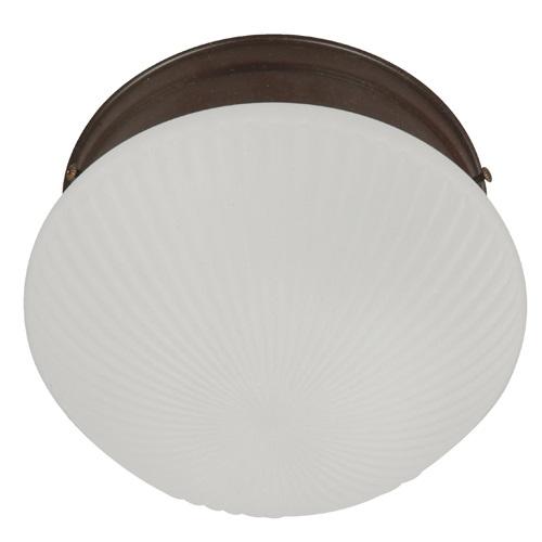 Paflón de 1 luz de vidrio de 60W acabado bronce para interior color blanco IKE L