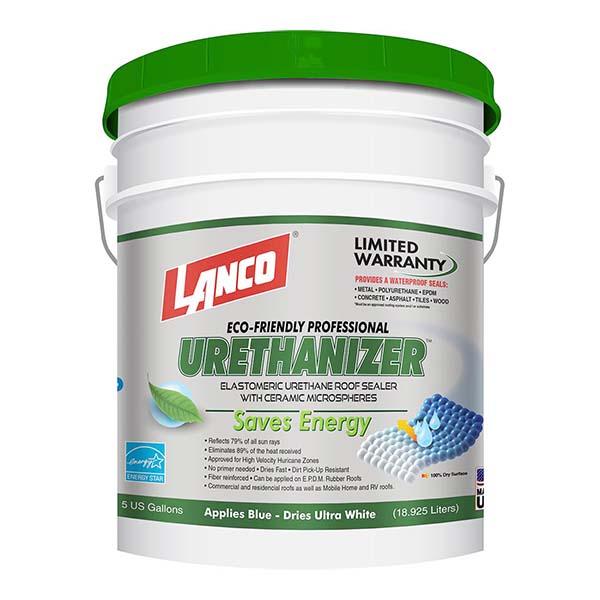 Pintura impermeabilizante Urethanizer para techos color blanco de 5gl LANCO