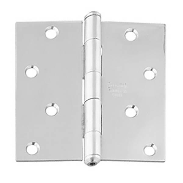 """Bisagra estándar de 4"""" x 4"""" de acero inoxidable para puerta color plateado NATIO"""