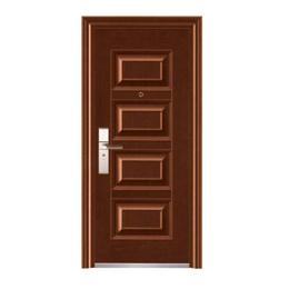 Puerta de metal cala con apertura izquierda de 3' x 7' de color chocolate wengue