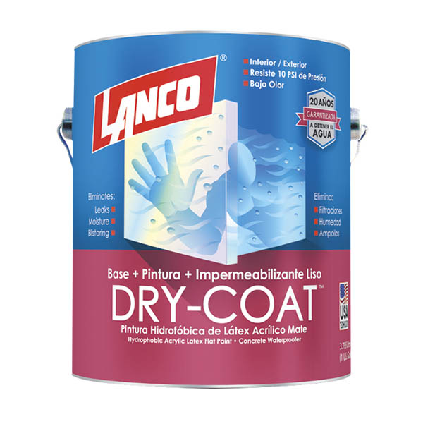 Pintura 3 en 1 Dry Coat liso mate blanco 1 galon (3.785 litros) LANCO