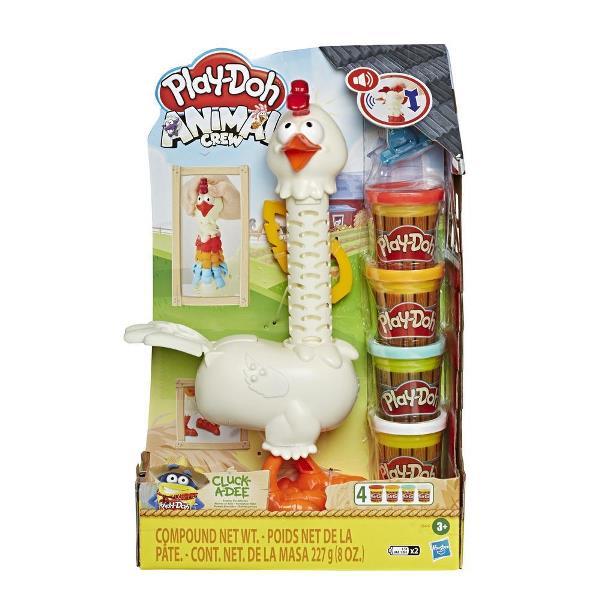 Play-Doh Animal Crew set de juego Cluck-a-Dee Plumas divertidas