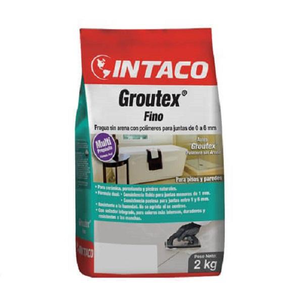 Lechada sin arena groutex de 2kg de color arena INTACO