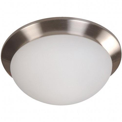 Plafón redondo plateado 1 luz e27 40w
