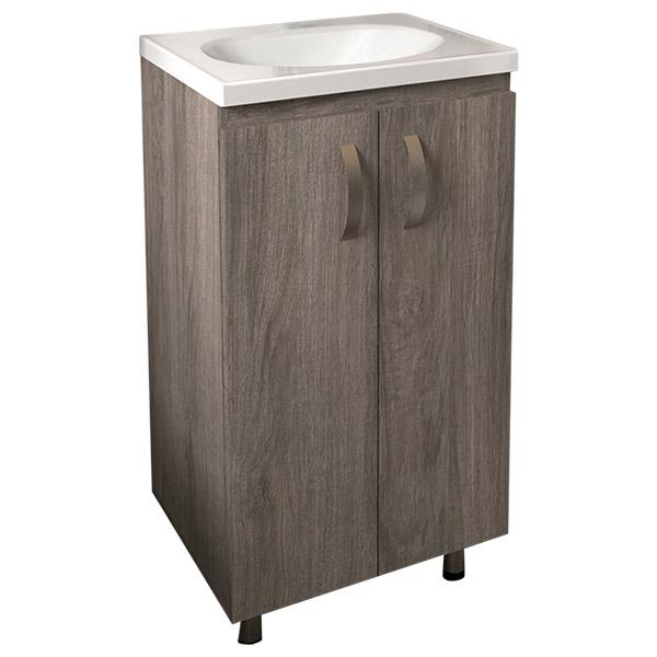 Lavamanos blanco con mueble de 48cm x 38cm modelo Eco de color Tambo con cierre