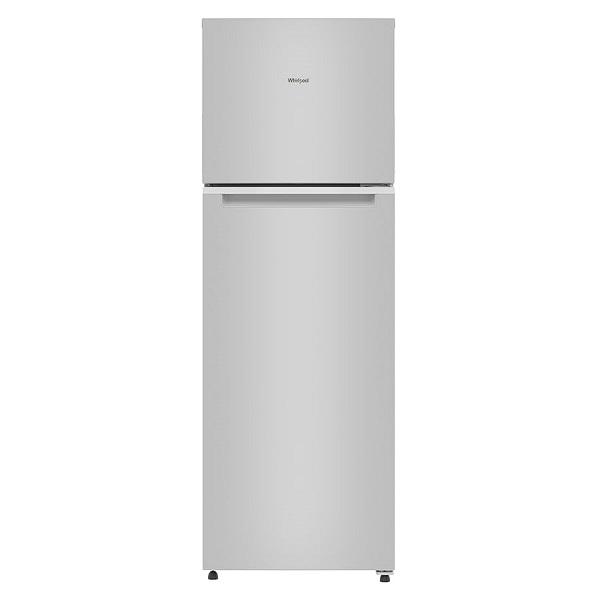Refrigeradora Top Mount con capacidad de 14p3 de color gris WHIRLPOOL