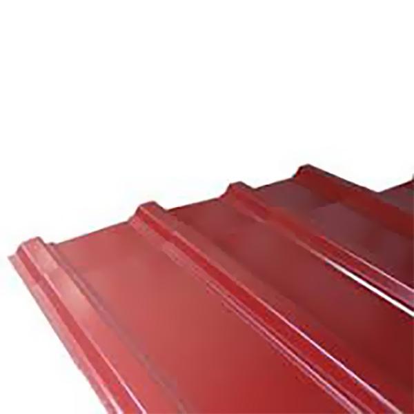 """Lámina de zinc canal ancho 42"""" x 20´ calibre 26 color rojo"""