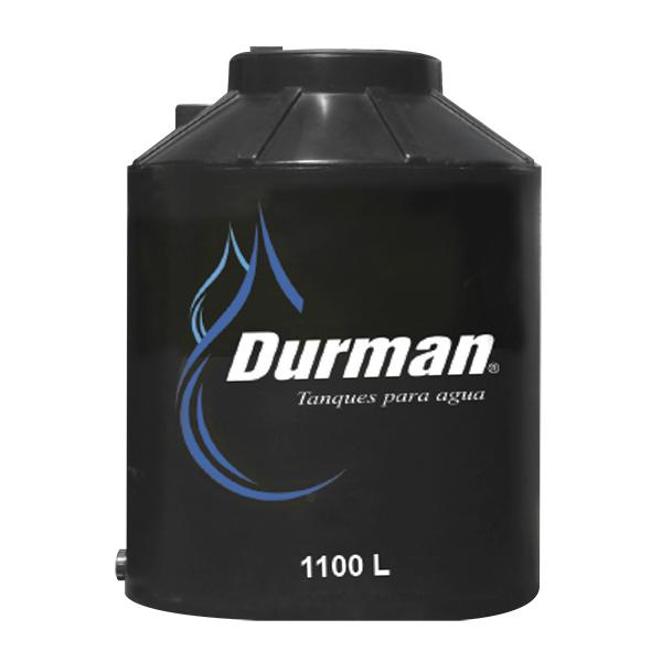Tanque de reserva de agua bicapa con capacidad de 1100L con filtro color negro D