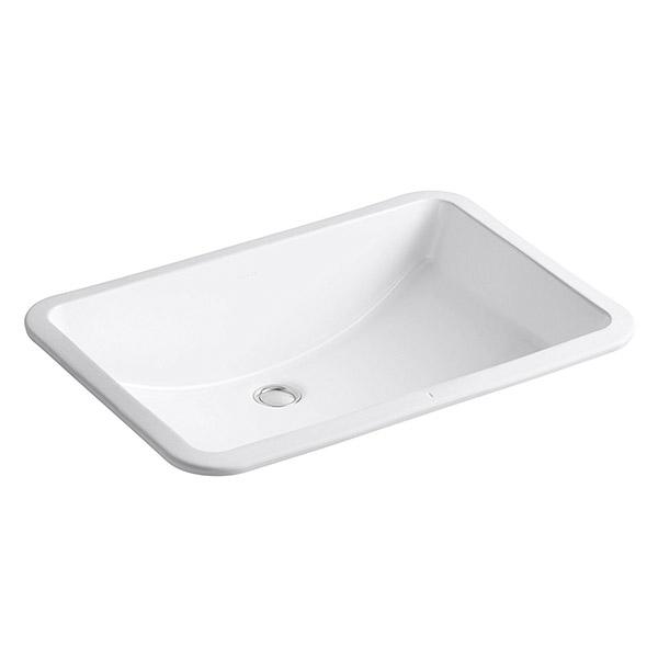 Lavamanos rectangular modelo Ladena blanco 1 pieza KOHLER