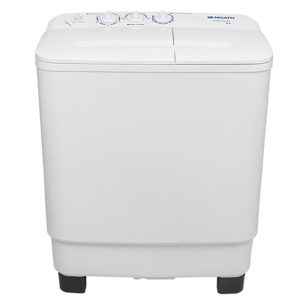 Lavadora semiautomática de carga superior con capacidad de 8kg color blanco NISA