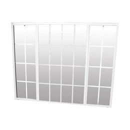Ventana sencilla 1.50m x 1.20m  de aluminio color blanco