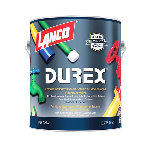 Pintura de esmalte anticorrosivo Durex a base de agua acabado brillante color bl