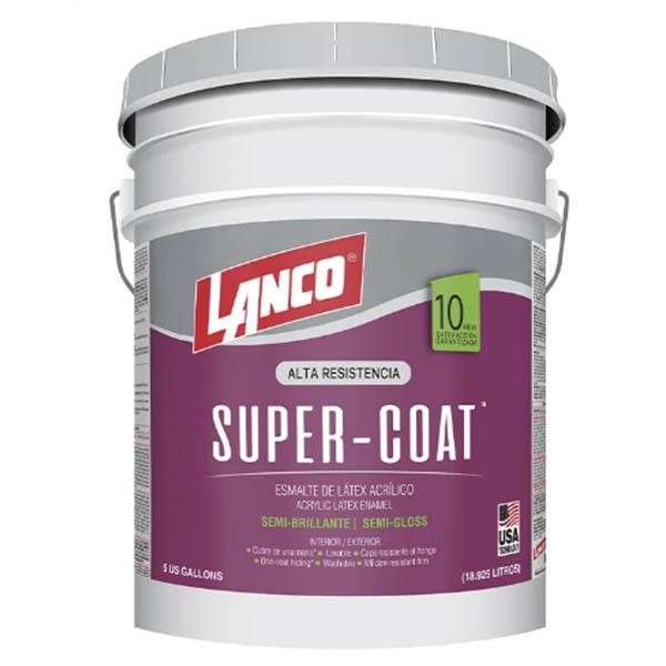Pintura de esmalte látex acrílica Super Coat semi-brillante base tint de 5gl LAN