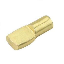 """Soporte de 5mm x 5/16"""" de acero de acabado latón brillante para tablillas de col"""