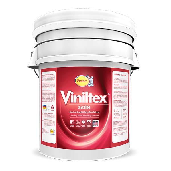 Pintura acrílica Viniltex Satín para interior y exterior acabado satinado color