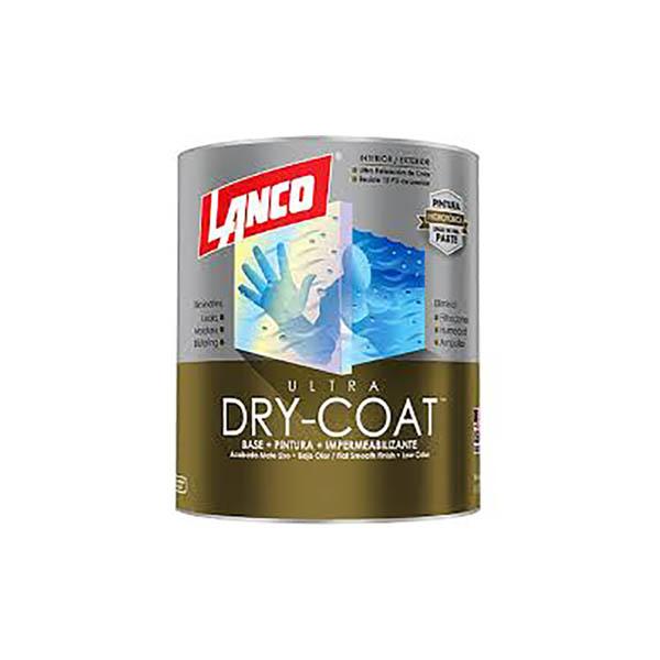 Pintura 3 en 1 Dry Coat Ultra blanco 1/4 galón (0.946 litros) LANCO