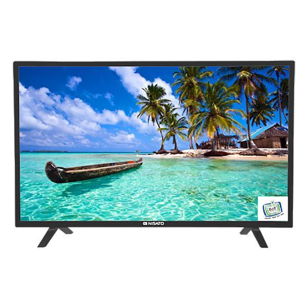 "Televisor HD de 32"" con pantalla plana de color negro NISATO"