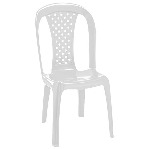 Silla plástica Salsa de 52.5cm x 87.5cm x 47cm color blanco