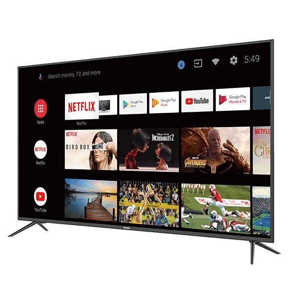 """Televisor Smart 4K de 65"""" con pantalla plana de color negro HAIER"""