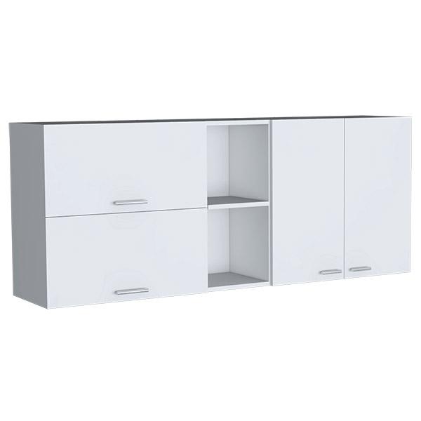 Gabinete superior de 31.5cm x 150cm x 60cm modelo Opra de color blanco RTA