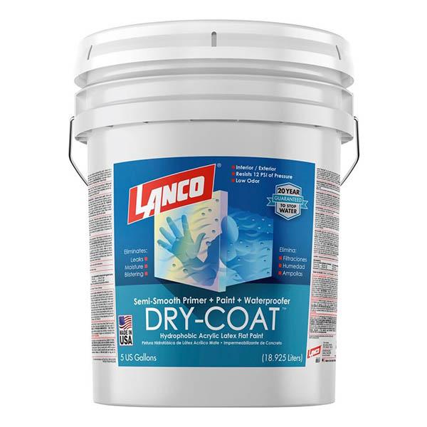 Pintura 3 en 1 Dry Coat semiliso mate blanco 5 galones (18.92 litros) LANCO