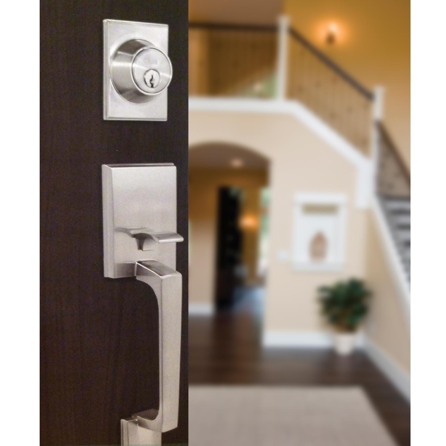 Cerradura manillón liverpool para puerta principal con sistema de llave mariposa
