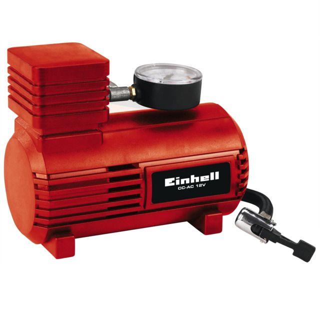 Compresor de aire de 12V para auto de color rojo EINHELL EXPERT