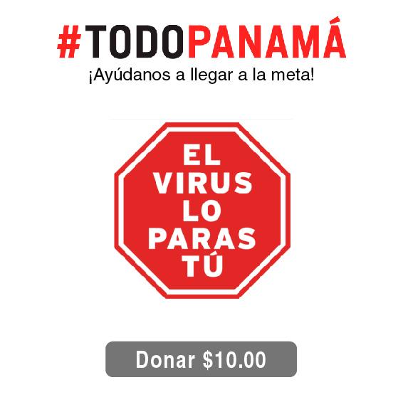 Donación de B/.10.00 para Todo Panamá