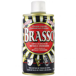 Limpiador y pulidor de 200ml para metales BRASSO