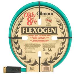 Manguera Flexogen de 19mm x 23m para jardín con conexión de latón GILMOUR