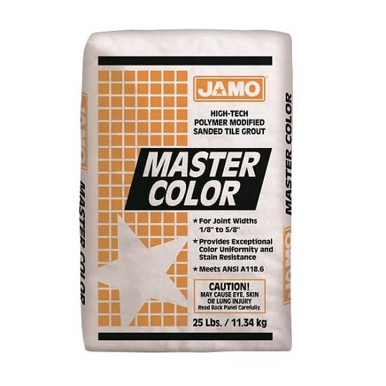 Lechada con Arena Master Color de 11.34kg color blanco JAMO