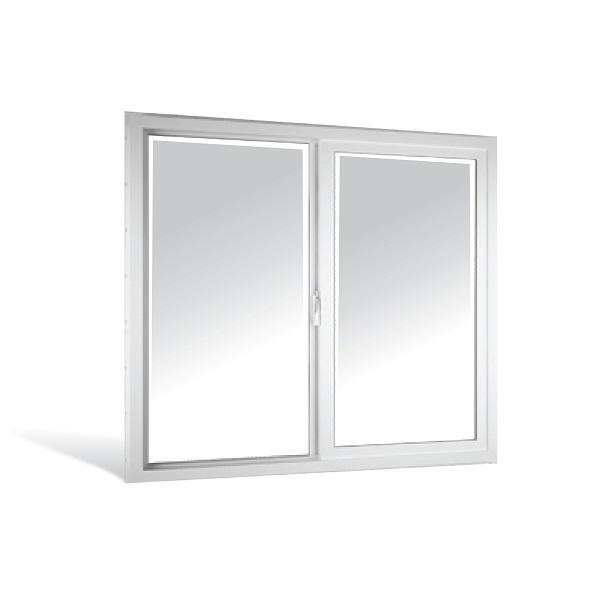 Ventana sencilla de 1.20m x 0.90m de PVC color blanco VISOR