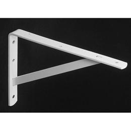 """Brazo fijo de 20"""" tipo L de metal decorativo para tablillas y tubos de color bla"""