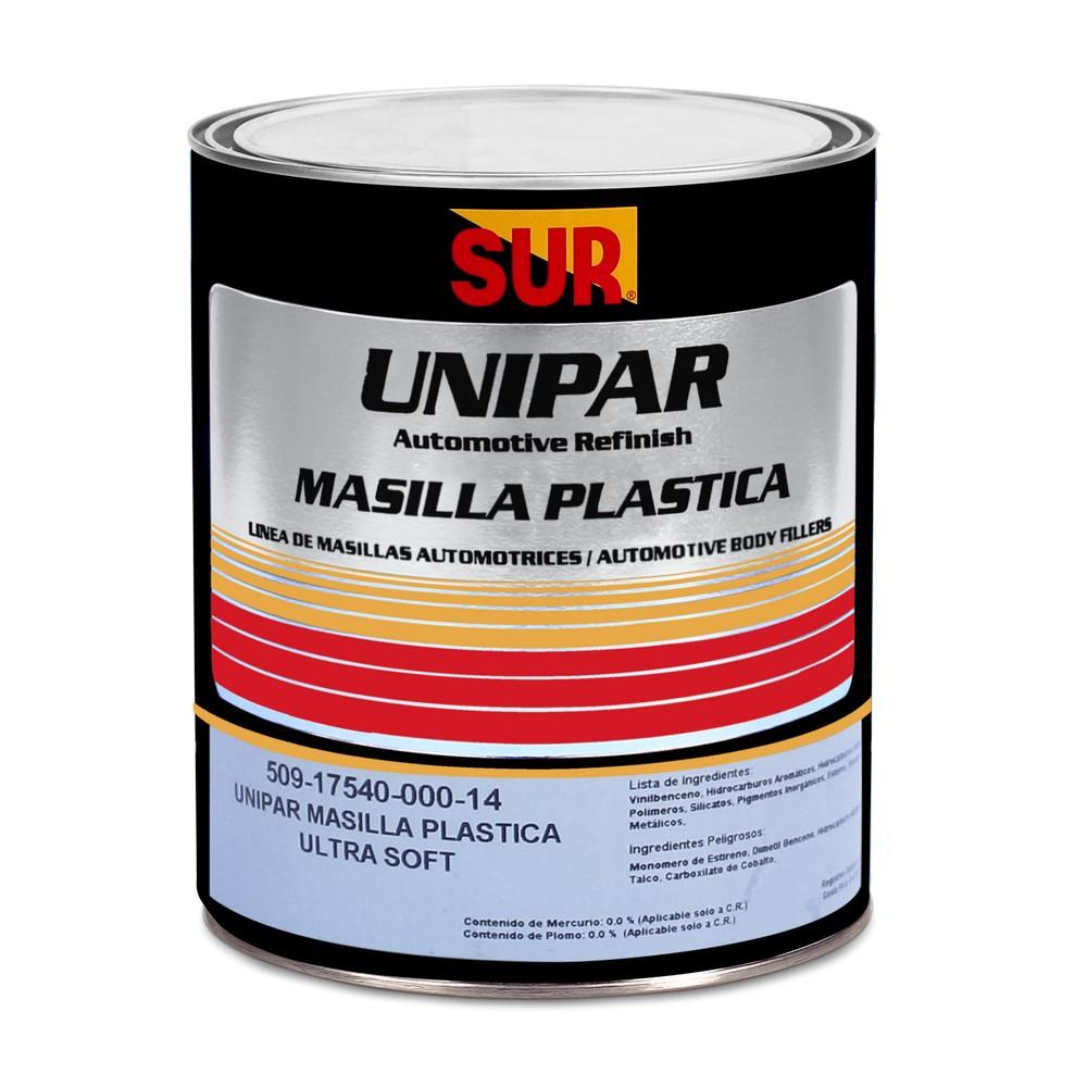 Masilla plástica para uso industrial automotrices unipar x1/4 galón sur