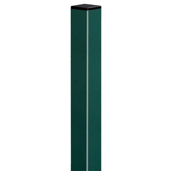 Poste de 2.5m galvanizado de  color verde