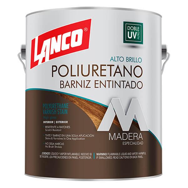 Barniz de color mahogany de 1gl LANCO