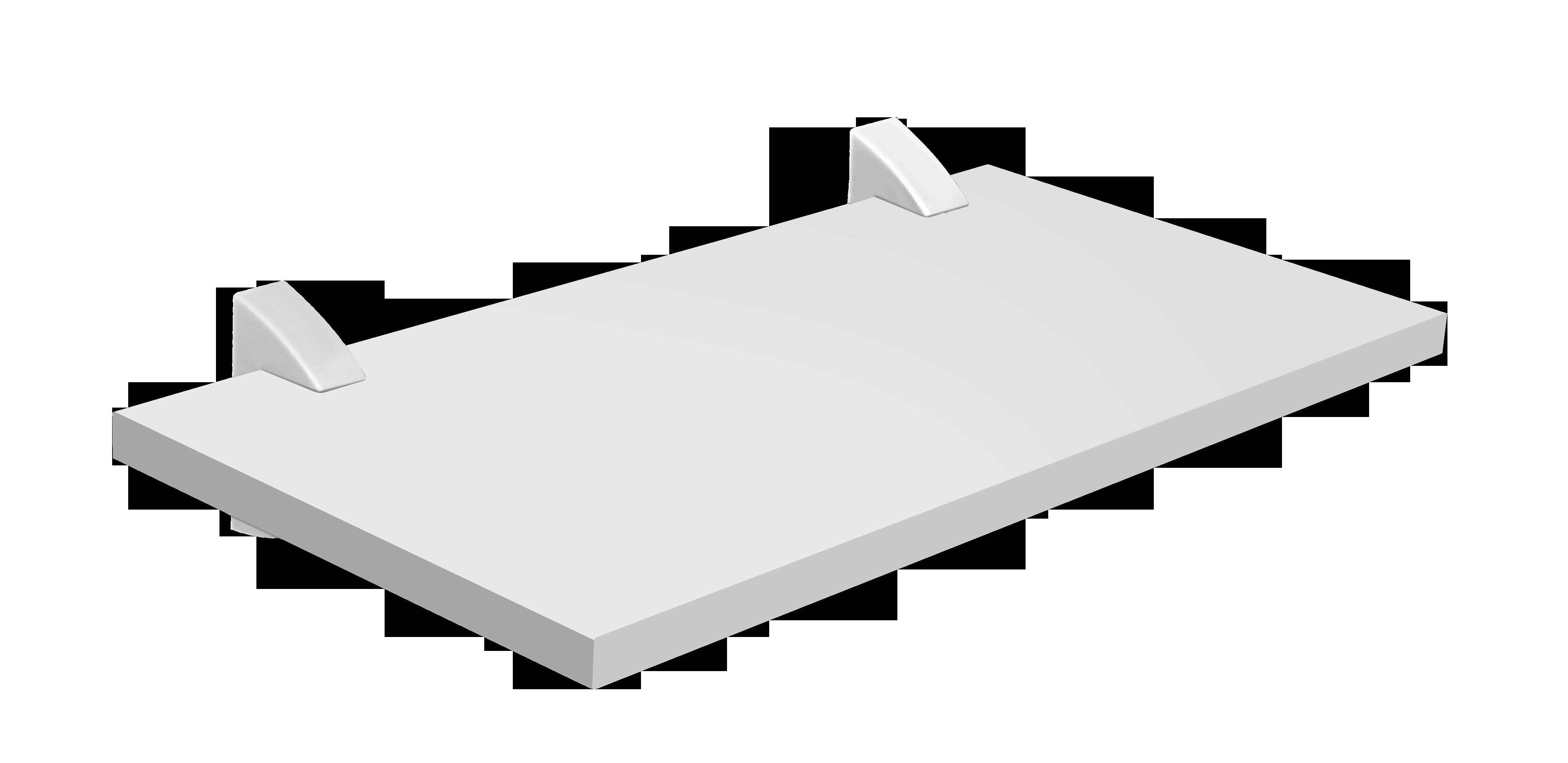 Repisa con soporte de 40cm x 25cm x 1.5cm blanco con capacidad de 20 kilogramos