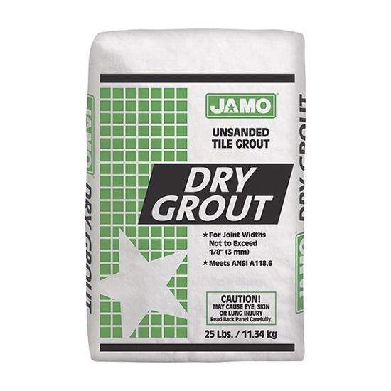 Lechada sin arena Dry Grout de 11.34kg color grafito JAMO