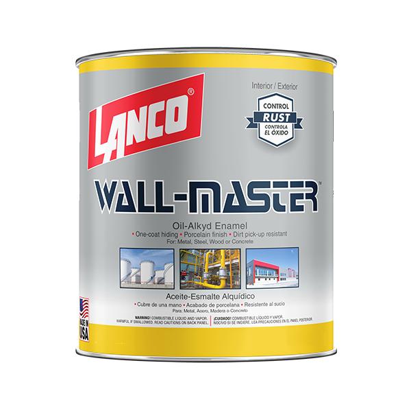 Pintura de esmalte wall master de base deep de color blanco 1/4gl LANCO