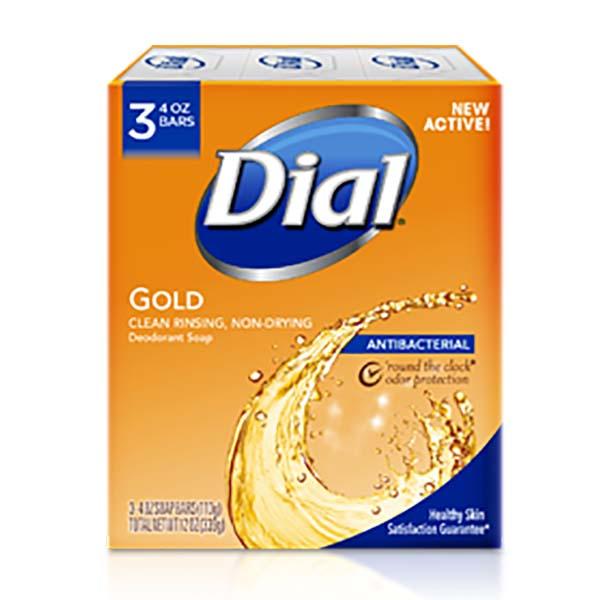 Jabón Antibacterial 3 unidades DIAL GOLD